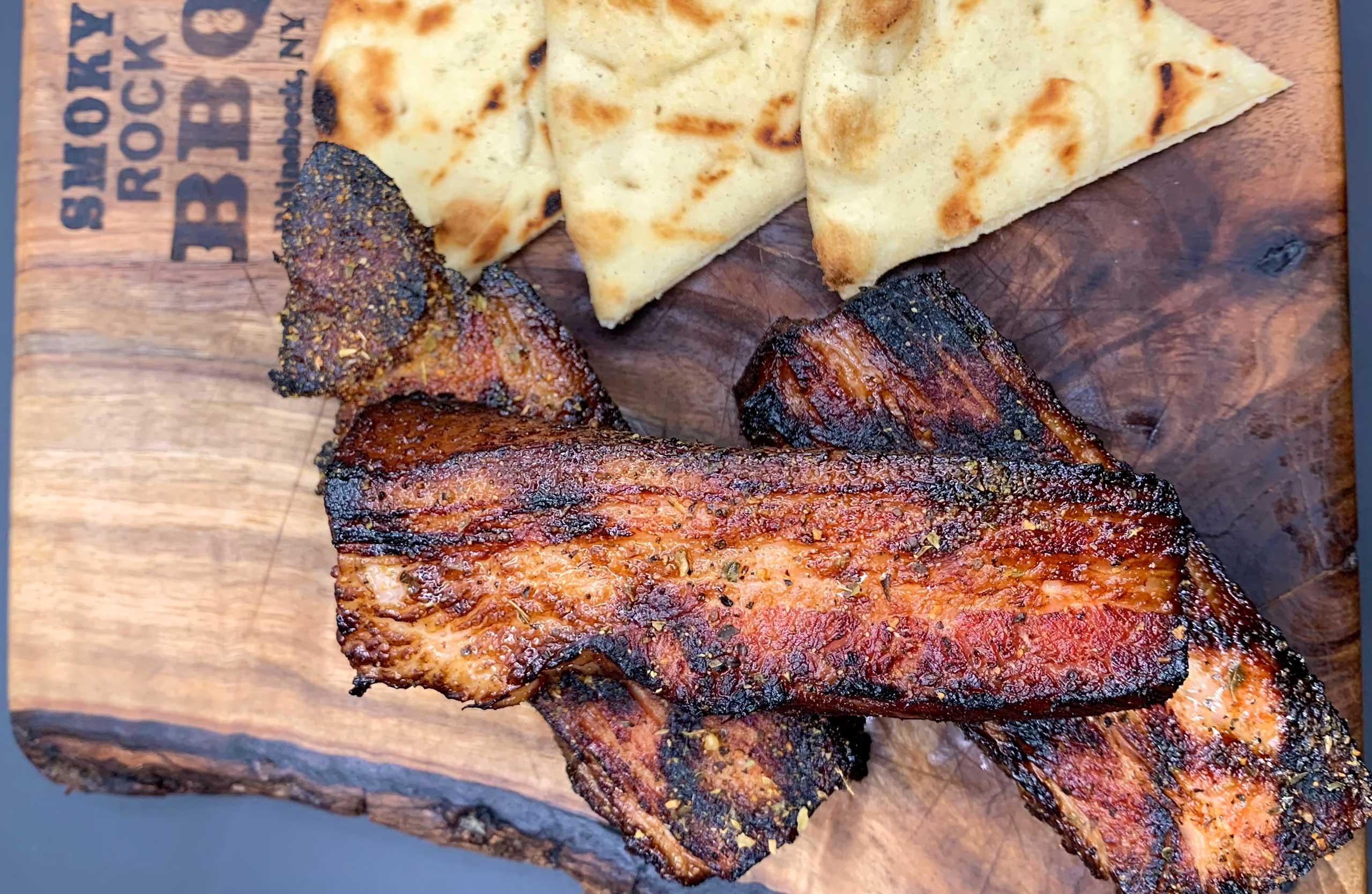 smoked pork belly smoky rock barbecue